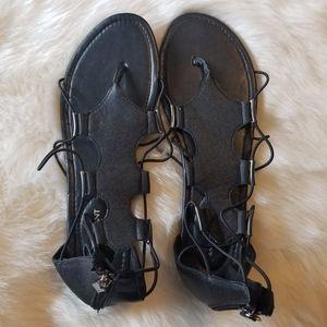 Lane Bryant Black Sandals 12W New